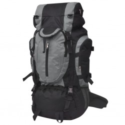 stradeXL Hiking Backpack XXL 75 L Black and Grey