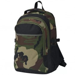 stradeXL School Backpack 40 L Black and Camouflage