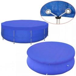 stradeXL Plandeka na basen, okrągła, PE, 460 cm, 90 g/m²