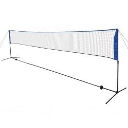 stradeXL Siatka i lotki do badmintona, 600x155 cm