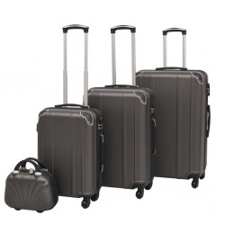 stradeXL Four Piece Hardcase Trolley Set Anthracite