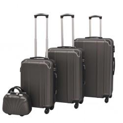 stradeXL Zestaw walizek na kółkach w kolorze antracytowym, 4 szt.