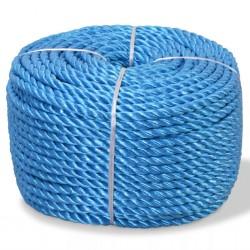 stradeXL Skręcana linka z polipropylenu, 6 mm, 200 m, niebieska