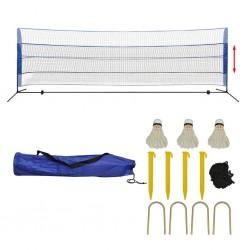 stradeXL Siatka do badmintona, lotki, 500x155 cm