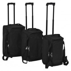 stradeXL 3 Piece Luggage Set Black