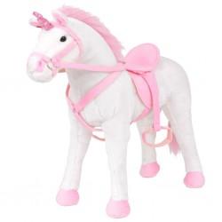 stradeXL Standing Plush Toy Unicorn White and Pink XXL