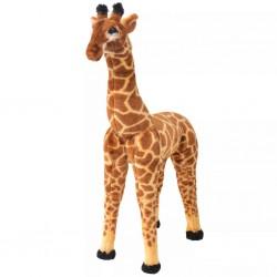 stradeXL Pluszowa żyrafa, stojąca, brązowo-żółta, XXL