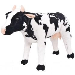 stradeXL Pluszowa krowa, stojąca, czarno-biała, XXL