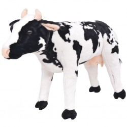 stradeXL Standing Plush Toy Cow Black and White XXL