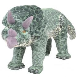 stradeXL Pluszowy triceratops, stojący, zielony, XXL