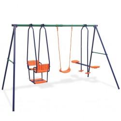 stradeXL Swing Set with 5 Seats Orange