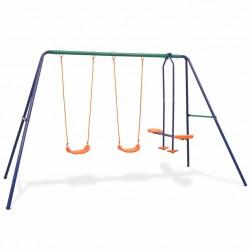 stradeXL Swing Set with 4 Seats Orange