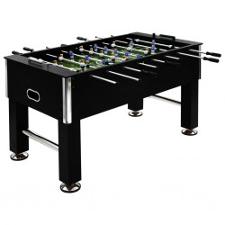 stradeXL Stół do gry w piłkarzyki, stal, 60 kg, 140x74,5x87,5 cm, czarny