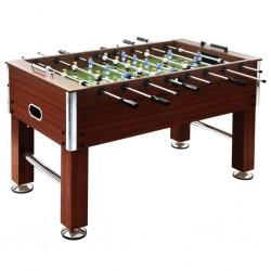 stradeXL Stół do gry w piłkarzyki, stal, 60 kg, 140x74,5x87,5cm, brązowy