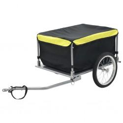 stradeXL Przyczepa rowerowa, transportowa, 65 kg, czarno-żółta