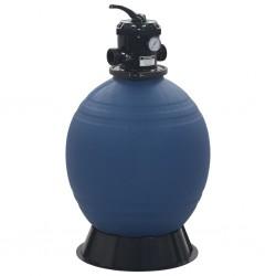 stradeXL Piaskowy filtr basenowy z zaworem 6 drożnym, niebieski, 560 mm