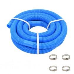 stradeXL Wąż do basenu z opaskami zaciskowymi, niebieski, 38 mm, 6 m