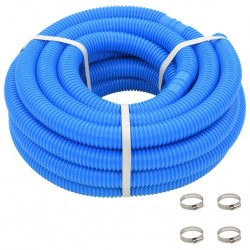 stradeXL Pool Hose with Clamps Blue 38 mm12 m
