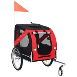 stradeXL Przyczepka rowerowa dla psa, czerwono-czarna