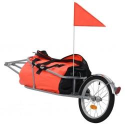 stradeXL Rowerowa przyczepa na bagaż z pomarańczowo-czarną torbą