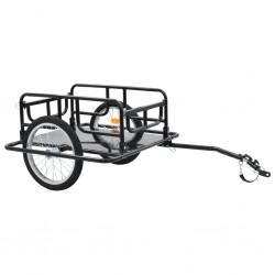 stradeXL Transportowa przyczepa rowerowa 130x73x48,5 cm, stalowa, czarna