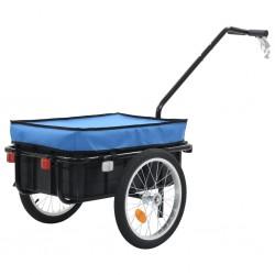stradeXL Przyczepa rowerowa/taczka, 155x61x83 cm, stalowa, niebieska