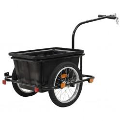 stradeXL Przyczepa rowerowa, czarna, 50 L