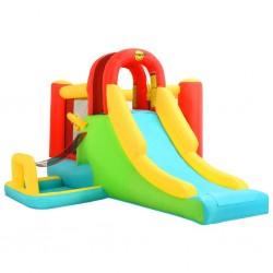 Happy Hop Dmuchany zamek ze zjeżdżalnią, 400x295x200 cm, PVC