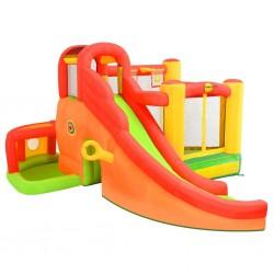 Happy Hop Dmuchany zamek ze zjeżdżalnią, 450x380x230 cm, PVC