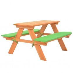 stradeXL Dziecięcy stolik piknikowy z ławkami, 89x79x50 cm, lita jodła