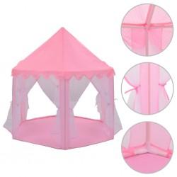 stradeXL Namiot do zabawy, dla księżniczki, różowy