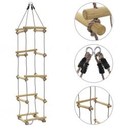 stradeXL Drabinka sznurowa dla dzieci, 200 cm, drewniana