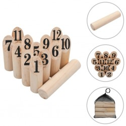stradeXL Number Kubb Game Set Wood