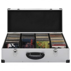 stradeXL CD Case for 80 CDs Aluminium ABS Silver