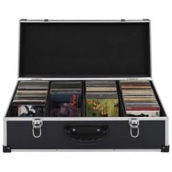 stradeXL CD Case for 80 CDs Aluminium ABS Black