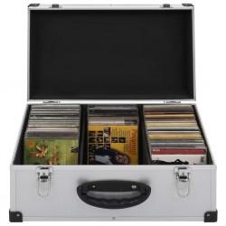 stradeXL CD Case for 60 CDs Aluminium ABS Silver