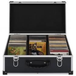 stradeXL CD Case for 60 CDs Aluminium ABS Black