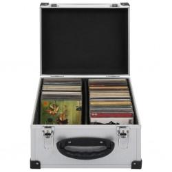 stradeXL Walizka na 40 płyt CD, aluminiowa, ABS, srebrna