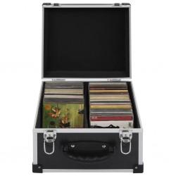 stradeXL Walizka na 40 płyt CD, aluminiowa, ABS, czarna