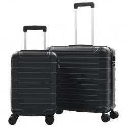 stradeXL Hardcase Trolley Set 2 pcs Black ABS