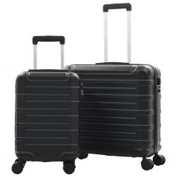 stradeXL Zestaw twardych walizek, 2 szt., czarny, ABS