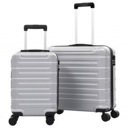 stradeXL Hardcase Trolley Set 2 pcs Silver ABS