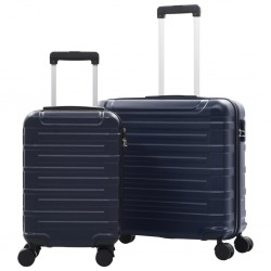 stradeXL Hardcase Trolley Set 2 pcs Navy ABS
