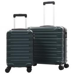 stradeXL Zestaw twardych walizek, 2 szt., zielone, ABS