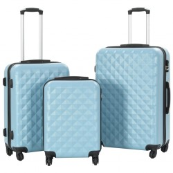 stradeXL Hardcase Trolley Set 3 pcs Blue ABS