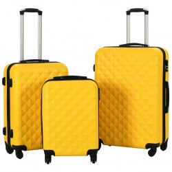 stradeXL Hardcase Trolley Set 3 pcs Yellow ABS