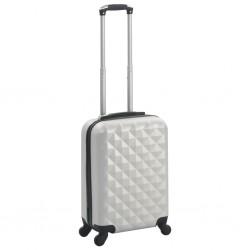 stradeXL Twarda walizka, jasny srebrny, ABS
