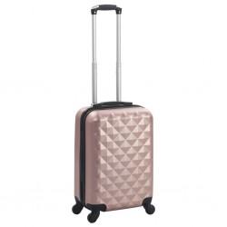 stradeXL Twarda walizka, różowe złoto, ABS