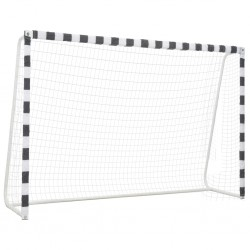 stradeXL Soccer Goal 300x200x90 cm Metal Black and White