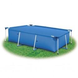 stradeXL Pokrywa na basen, niebieska, 975 x 488 cm, PE